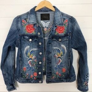 Blank NYC Embroidered Denim Jacket Size Small
